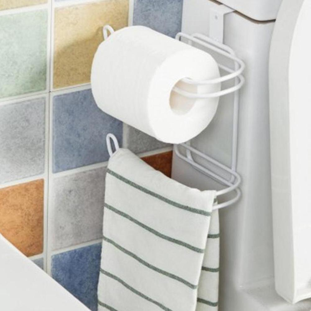 2 Roll Toilet Holder Storage Over Tank Organizer
