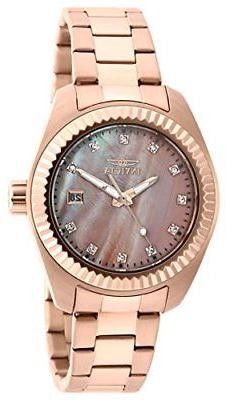 Invicta 20353 Women's Specialty Rose 18K Gold Plated SS Pink