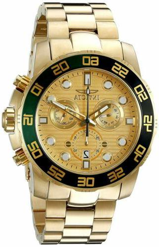 21554 diver gold dial yellow
