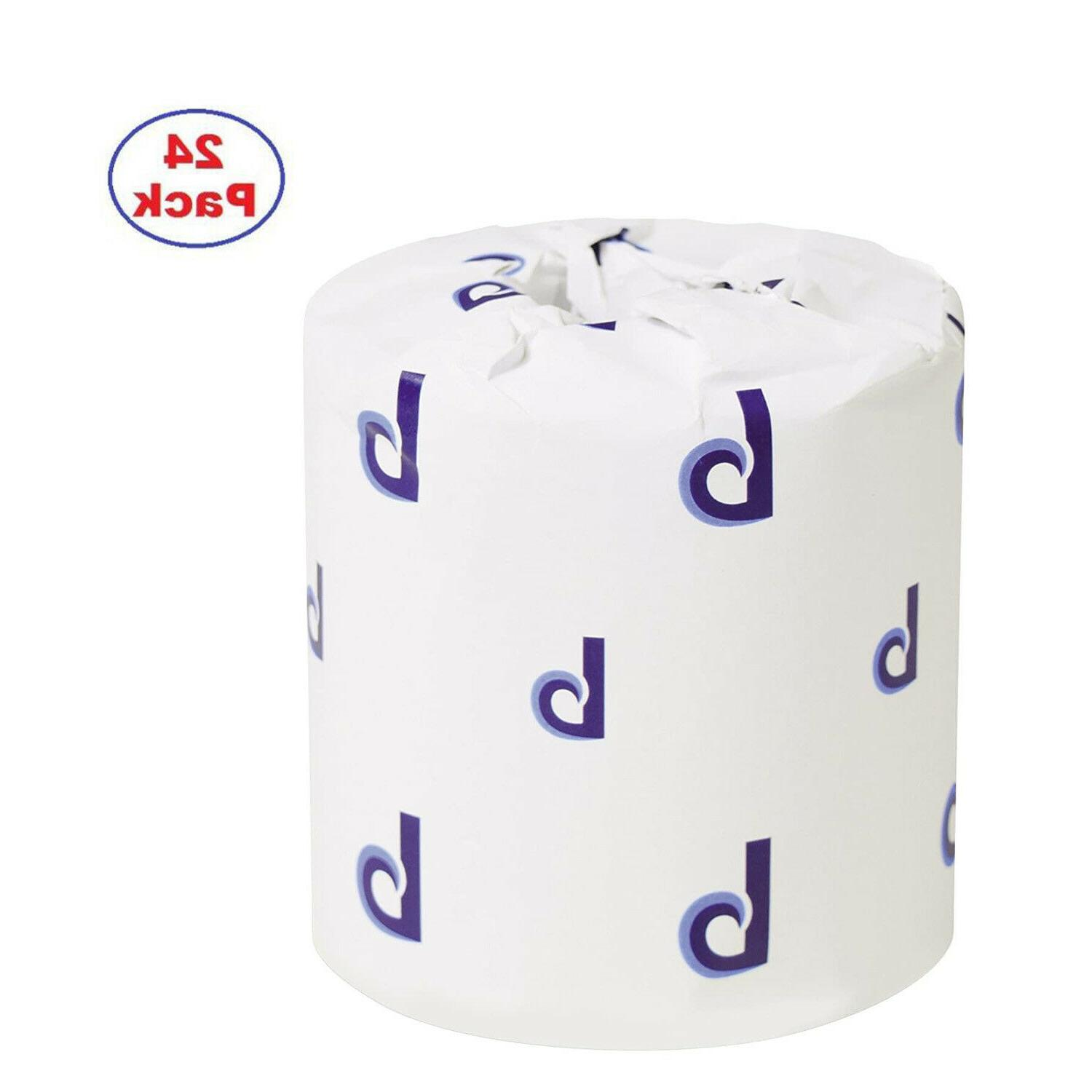 24 rolls of two ply toilet tissue