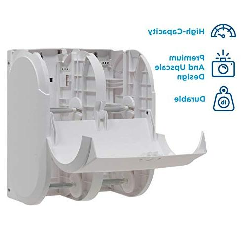 "Compact Quad High-Capacity Toilet Dispenser by GP White, 56747A, 11.750"" W 6.900"" D H"