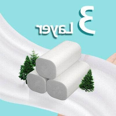 6/12 Rolls Toilet Paper Tissue Kitchen Household Bathroom