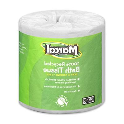 Marcal Paper Towels 100% Recycled 2-Ply, 60 Sheets Per Roll