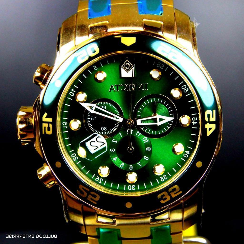 Mens Invicta Scuba Plated Chronograph 48mm Watch New