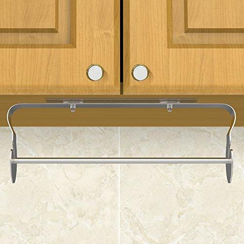 ODesign Adhesive Paper Towel Holder Toilet Under Cabinet SUS Stainless Steel - No Drilling