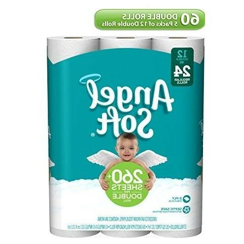 Angel Soft 2 Ply Toilet Paper, 60 Double Bath Tissue Pack of