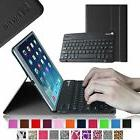 For Apple iPad Leather Case with Bluetooth keyboard slimShel