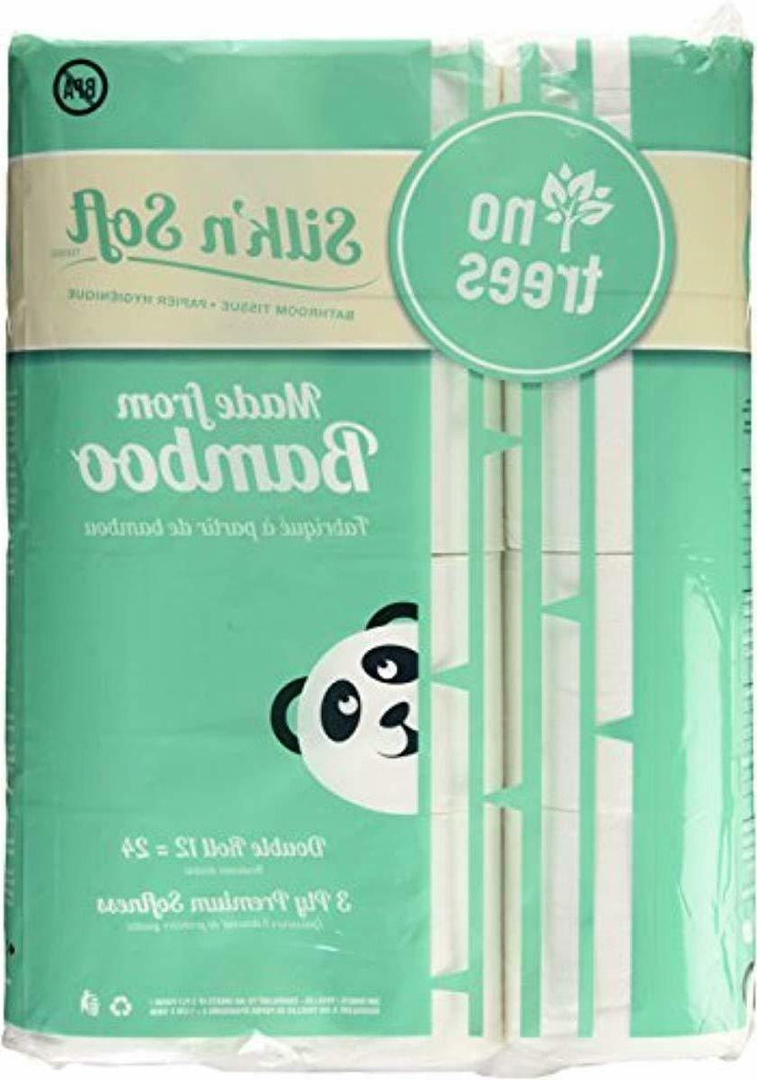 DRAGON TOWEL Bamboo Toilet Paper,12 CT,Tree-Free,3-Ply,Double Bamboo