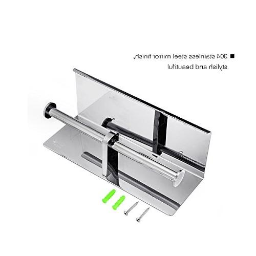 GEMITTO SUS304 Stainless Bathroom Paper Holder Mobile Wall