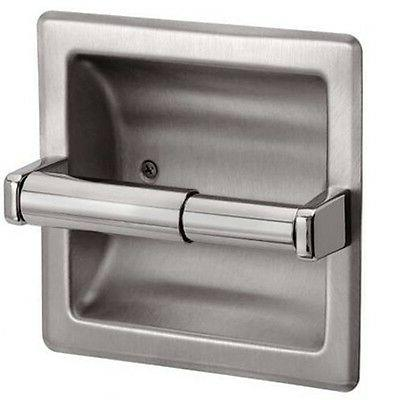 brushed nickel recessed toilet paper