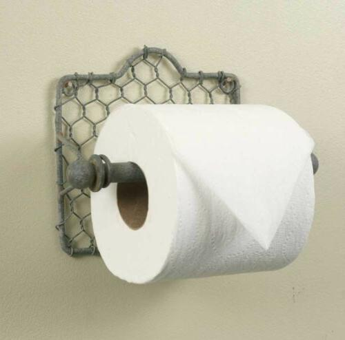 chicken wire toilet paper holder 1