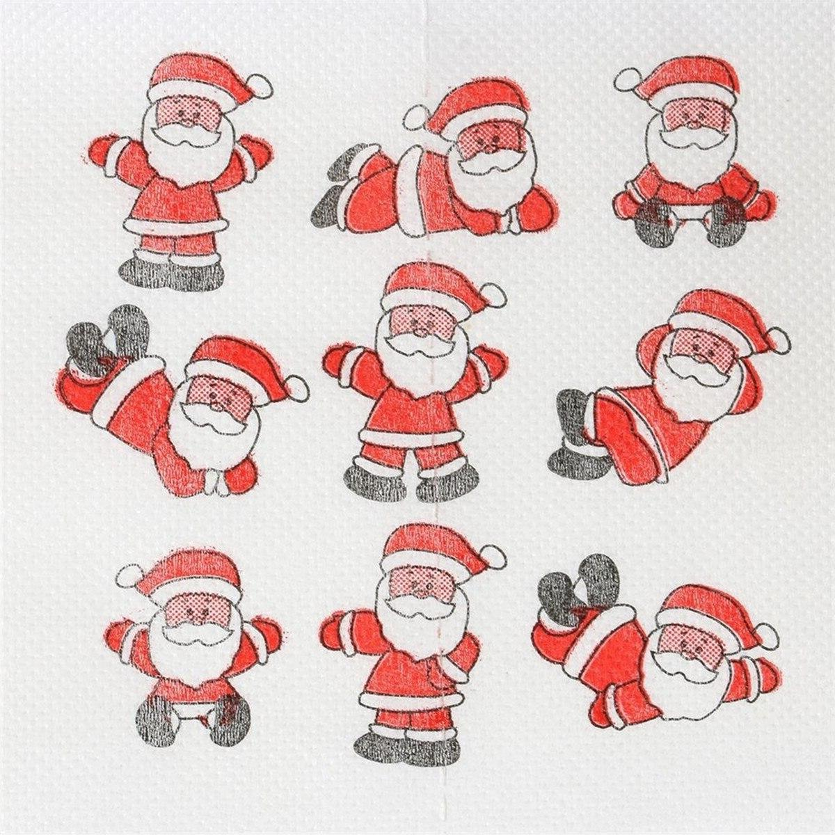 Christmas Santa Claus Roll Tissue Christmas Decorations Home DIY