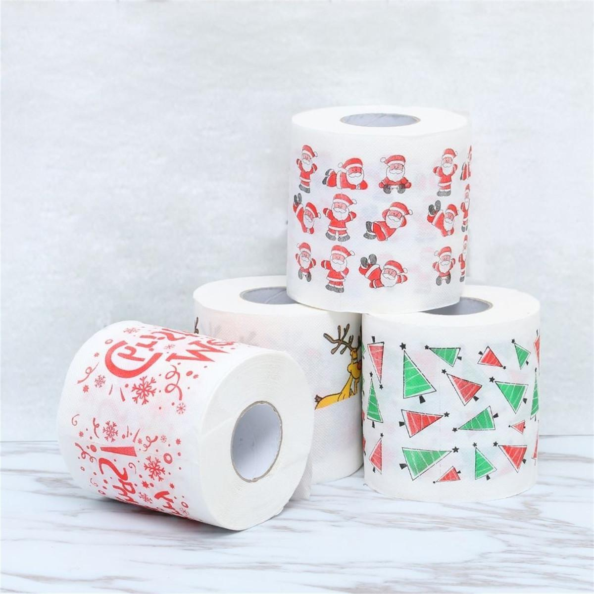 Christmas Santa Bath Roll <font><b>Paper</b></font> Tissue Home