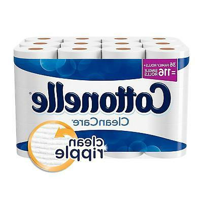 cleancare family toilet paper rolls