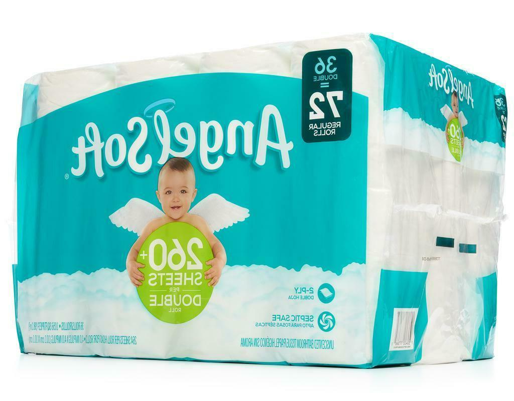 Angel Soft Double Rolls Bathroom Tissue Toilet 2-Ply Count