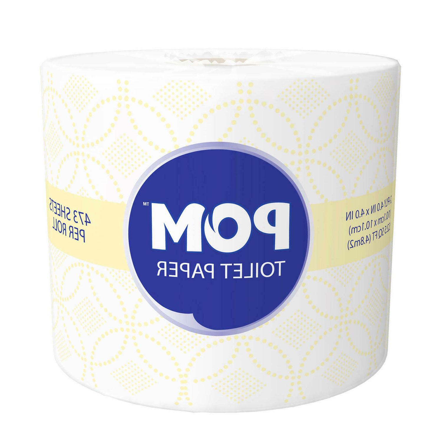 POM 2-Ply Paper, 473 Sheets/Roll