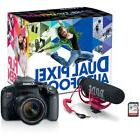 Canon EOS Rebel T7i Digital SLR Camera  w/ Video Creator Kit