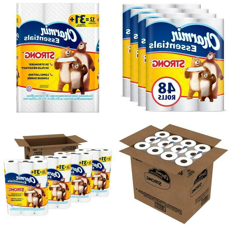 essentials strong toilet paper 48 giant rolls