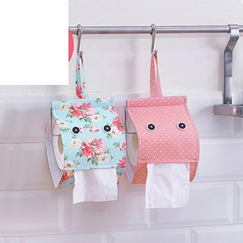 fabric rolls paper bags hanging