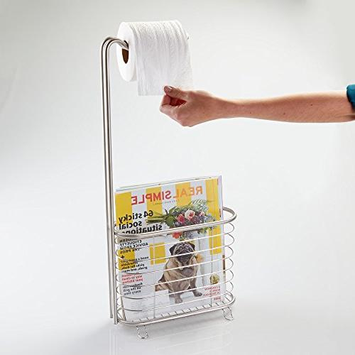 InterDesign Toilet Newspaper and Rack Stainless