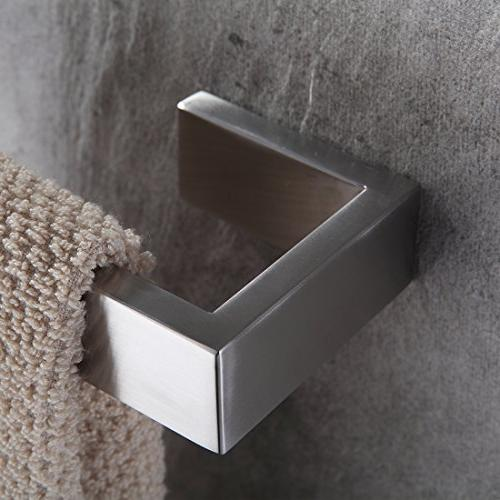 Fapully Four Bathroom Accessories Stainless Wall Nickel Finished