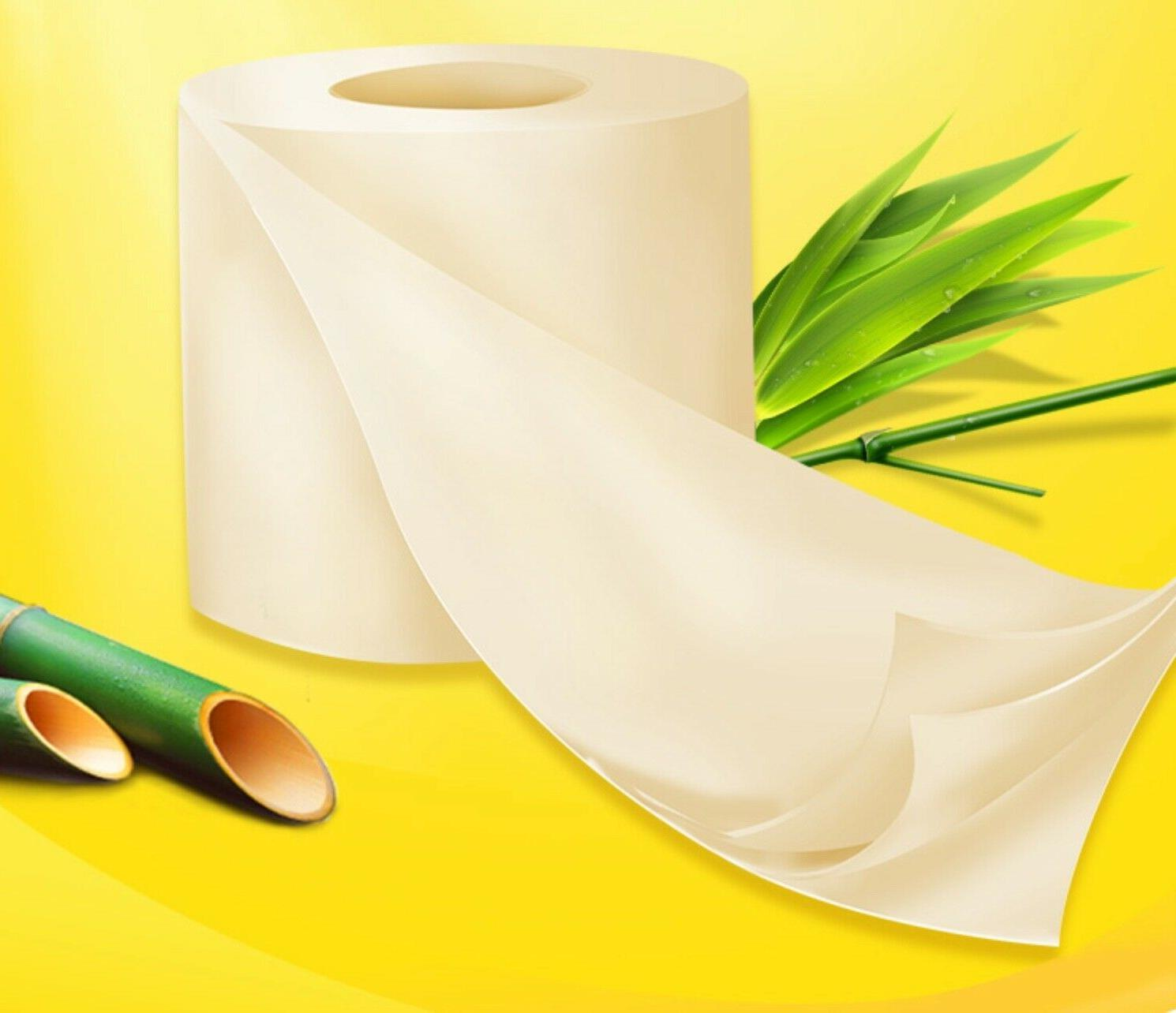 FREE SHIPPING Bath Tissue 10 3-Ply Bamboo NEW Toilet Paper