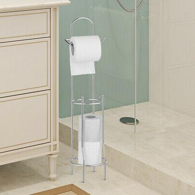 Free Standing Toilet Paper Roll Holder for Bathroom Storage