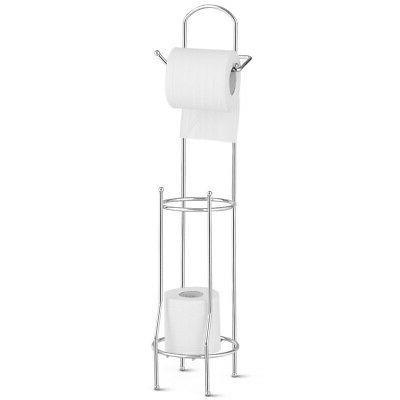 free standing toilet paper roll holder
