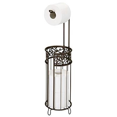 free standing toilet paper roll holder scroll
