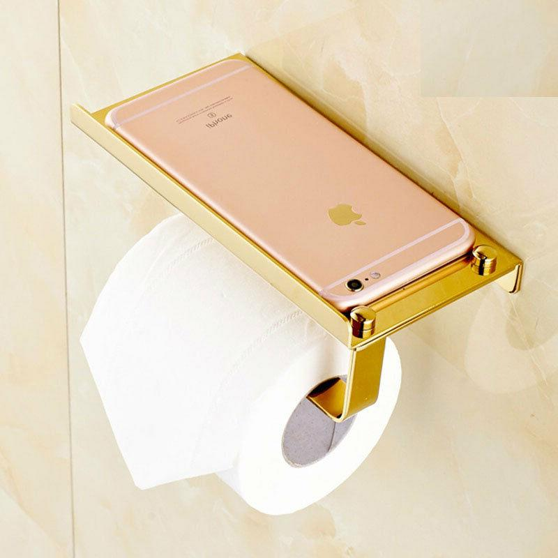 Gold Toilet Mobile Holders Mounted