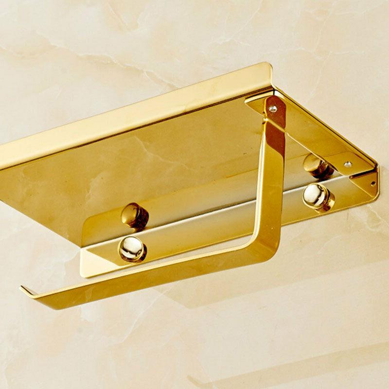 Gold Paper Holder Mobile Holders Wall Mounted