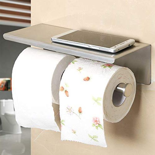 Paper Holder Bathroom Roll Holder with Installation of and Steel Brushed Nickel