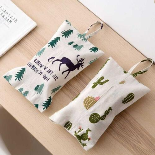 Hanging Tissue Box Container Bags Fabric Case