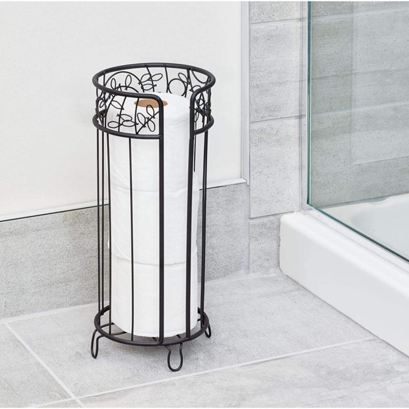 InterDesign Free Standing Toilet Spare Roll Storage for