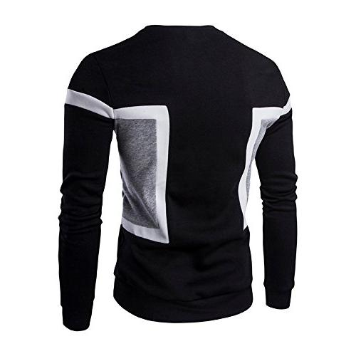 Mens Long Sleeve ! Charberry Mens Stitching Sweatshirt Tops Jacket Outwear
