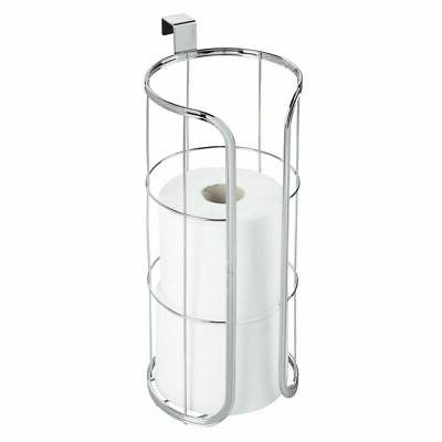 mDesign Tank Hanging Paper Reserve Bathroom - Stores Extra Rolls, Holds - Durable - Chrome