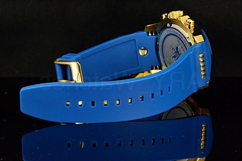 Invicta I-Force Blue Gold Tone Chronograph Dial Poly Watc