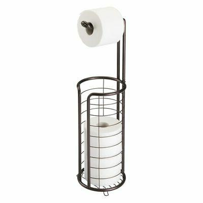 metal toilet paper holder stand and dispenser