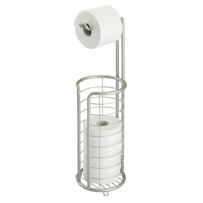 metal toilet paper holder stand dispenser holds