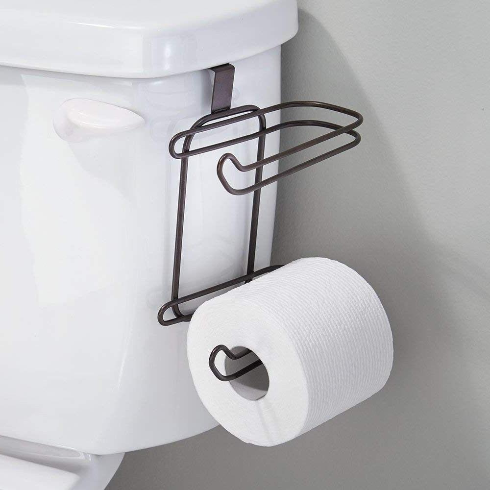 Modern Toilet Paper Holder Hanging Towel Over The Tank Stora