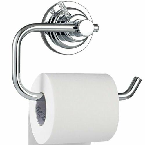 Vacuum Suction Cup Toilet Paper Roll Holder Wall Mount for B