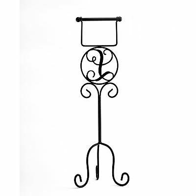 monogram toilet paper holder with vintage style