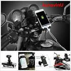 Motorcycle Handlebar Cell Phone GPS Mount Holder USB Charger