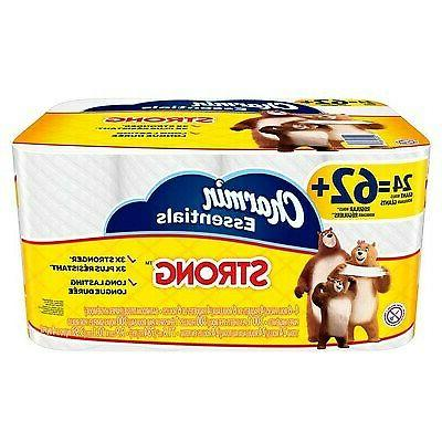 new 24 pack strong toilet paper bath