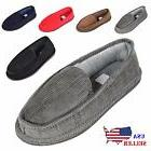 new mens house slippers corduroy moccasin slip