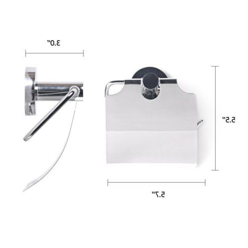NEW Square Toilet Paper Holder Stainless Wall