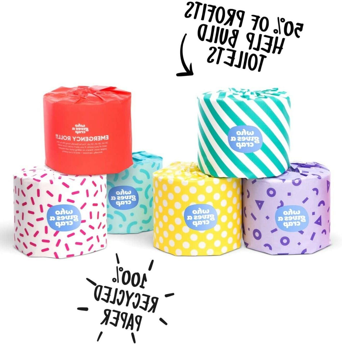 ! NEW a Recycled Toilet Paper! ROLLS