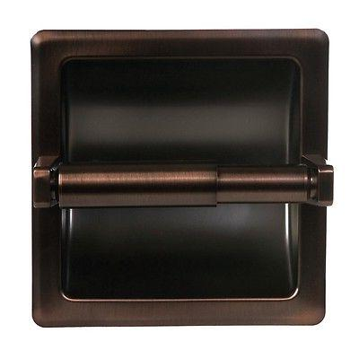 Oil Rubbed Bronze Mounted Recessed Toilet Paper Holder