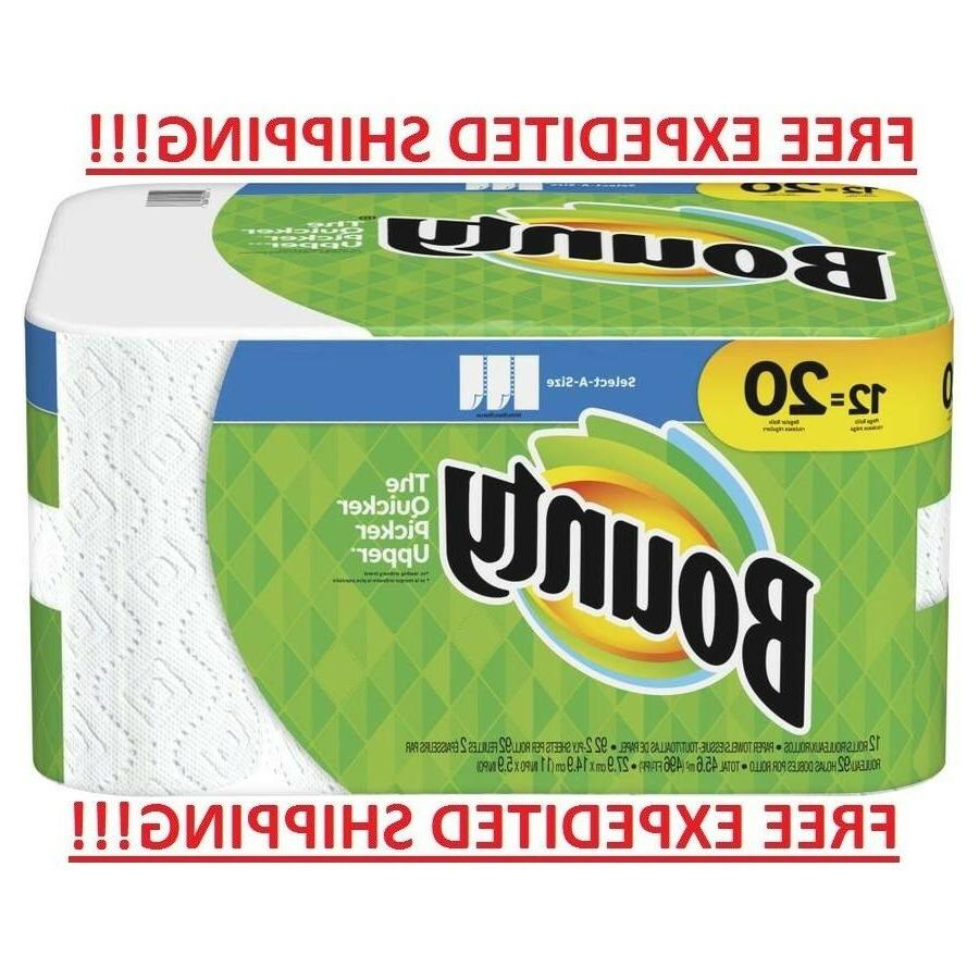 Bounty Paper Towels, White, Mega, Select A Size Rolls, Choos