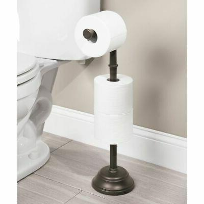 mDesign Plastic Roll Holder Dispenser, 3 Rolls Bronze